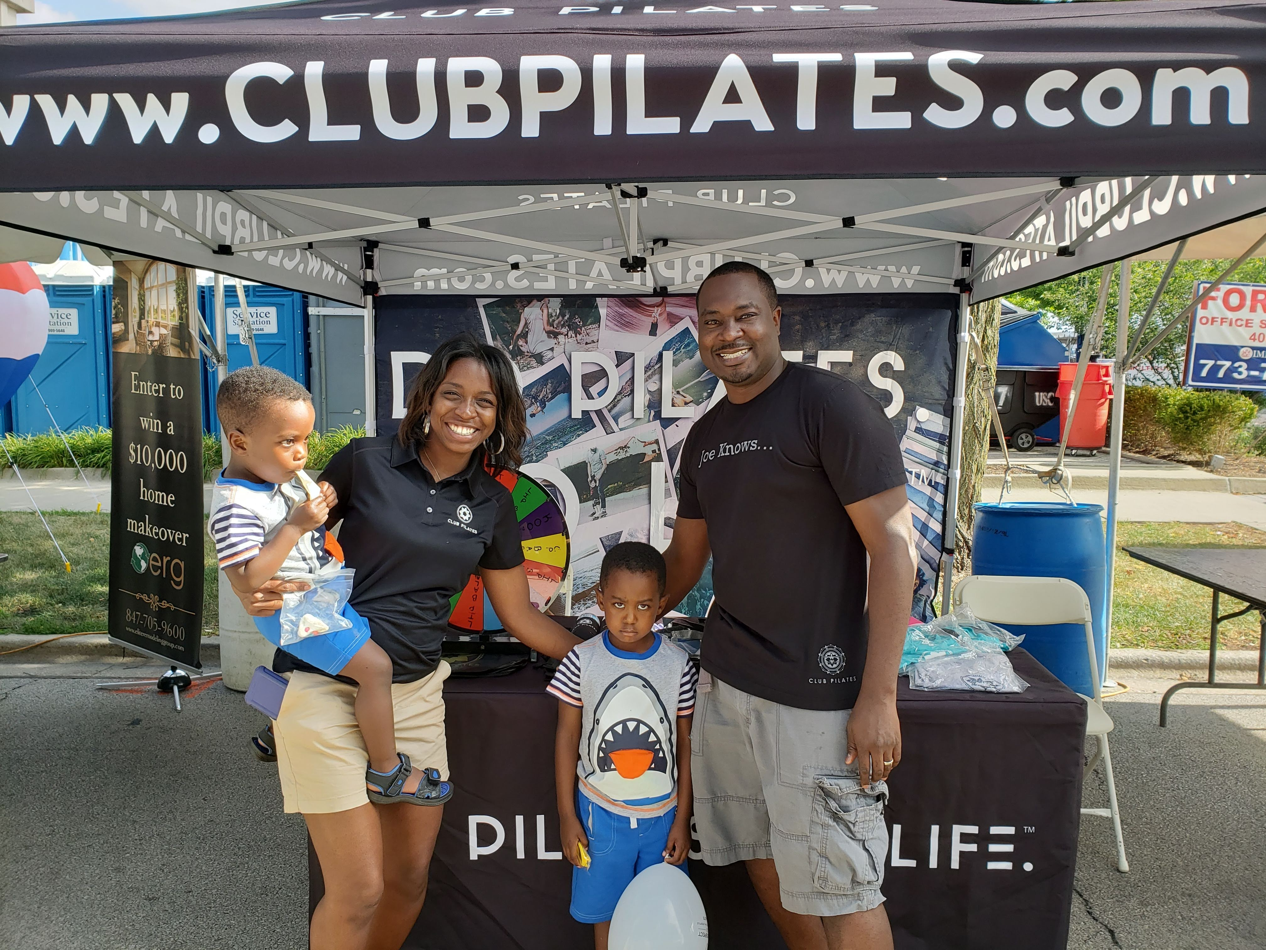 Club Pilates Mount Prospect- Family Pic at Grassroots event